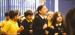 Children taking in part in dance fitness